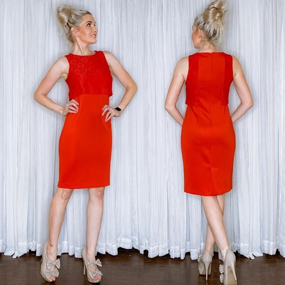 Metaphor Dresses & Skirts - Metaphor Red Lace Dress